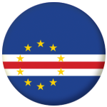 Cape Verde Country Flag 25mm Flat Back